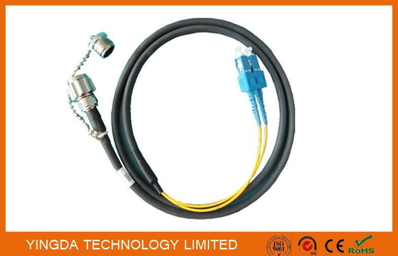 Outside Fiber Optic Patch Cables SC Duplex With ODC Male Connectors In FTTA Network supplier