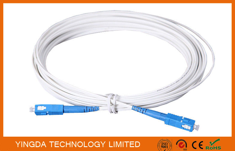 Indoor FTTH Fiber Optic Patch Cord 3M With SC / UPC Connectors FRP Strength Member supplier
