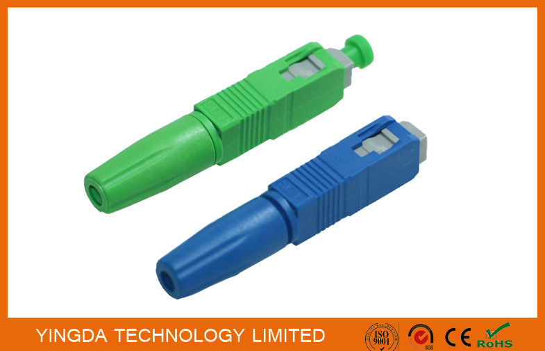Green / Blue SC UPC APC Field Installable Connector FTTH Use supplier