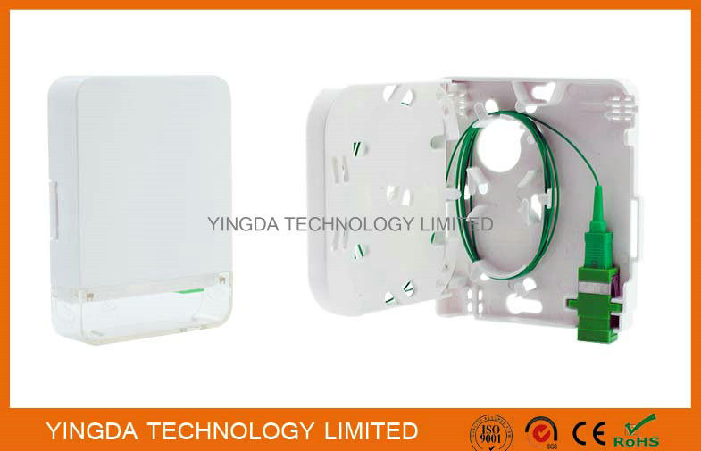1 Port Customer Wall Outlet Fiber Terminal Box Faceplate SC / APC Connectors supplier