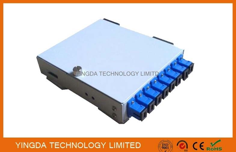 8 Core SC ST Adapter Fiber Optic Cable Junction Box, Cold Rolled Steel 8 Fibers PON Fiber Splice Box supplier