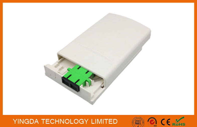 FTTH Fiber Optic Distribution Box Faceplate ABS Plastic White supplier