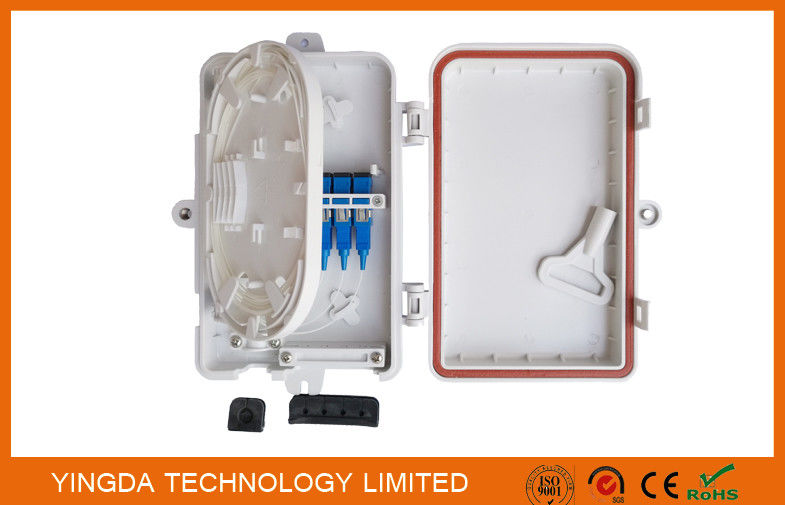 4 Port UV Weather Resistant FTTH Fiber Termination Box 4 Fibers SC Wall Mount Box supplier