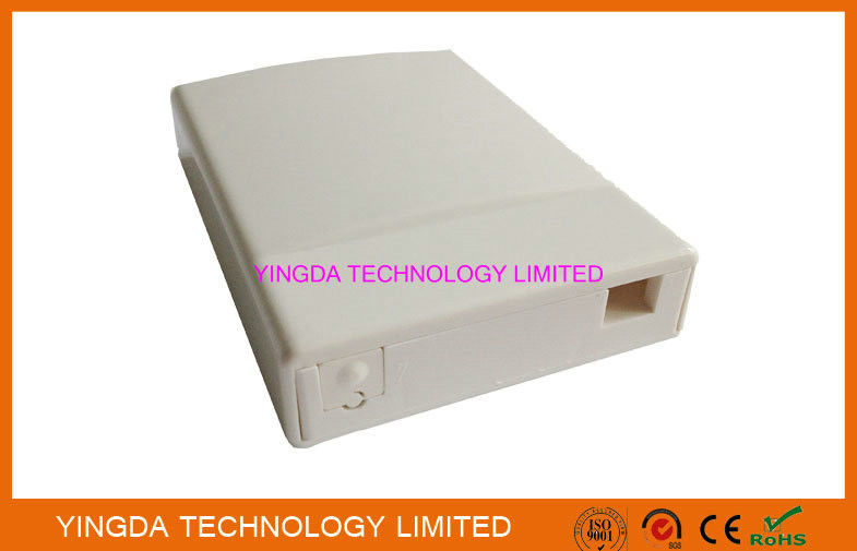 FTTH 1 Port Slide In Lock Socket Panel SC Fiber Optic Termination Box ABS White Wall Mount Box supplier
