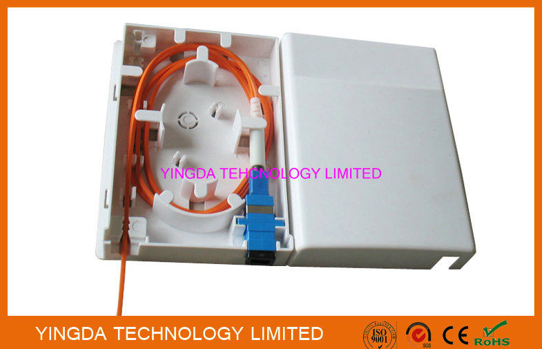 1 Port FTTH Box indoor Wall Mounting Resident Fiber Optical Distribution Box Faceplate supplier