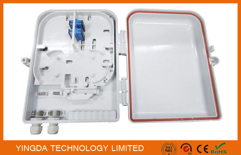 Outdoor iIP68 16 Ports Fiber Optic Cable PLC Splitter DistributionTermination Box White Plastic supplier