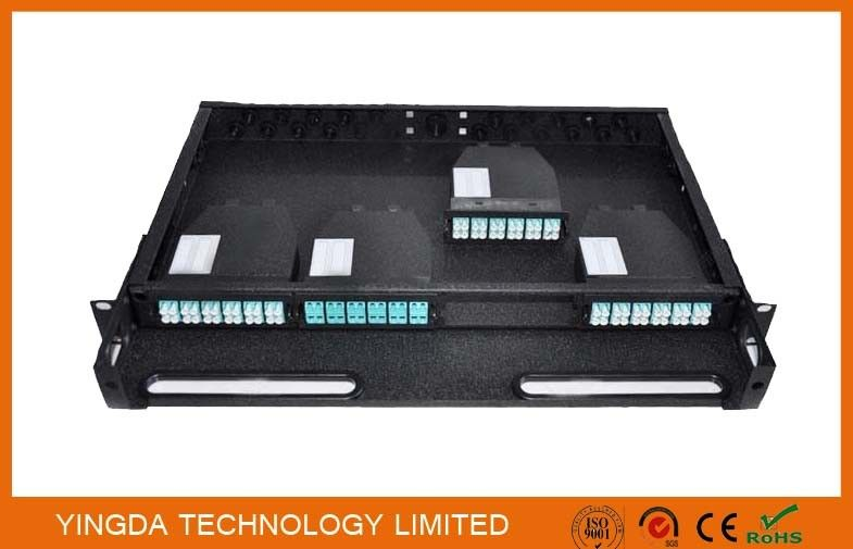 96 Cores 1U MPO Patch Panel / Enclosures 4 bays wide 24 LC ports3 MPO APC (x8) input SMF supplier