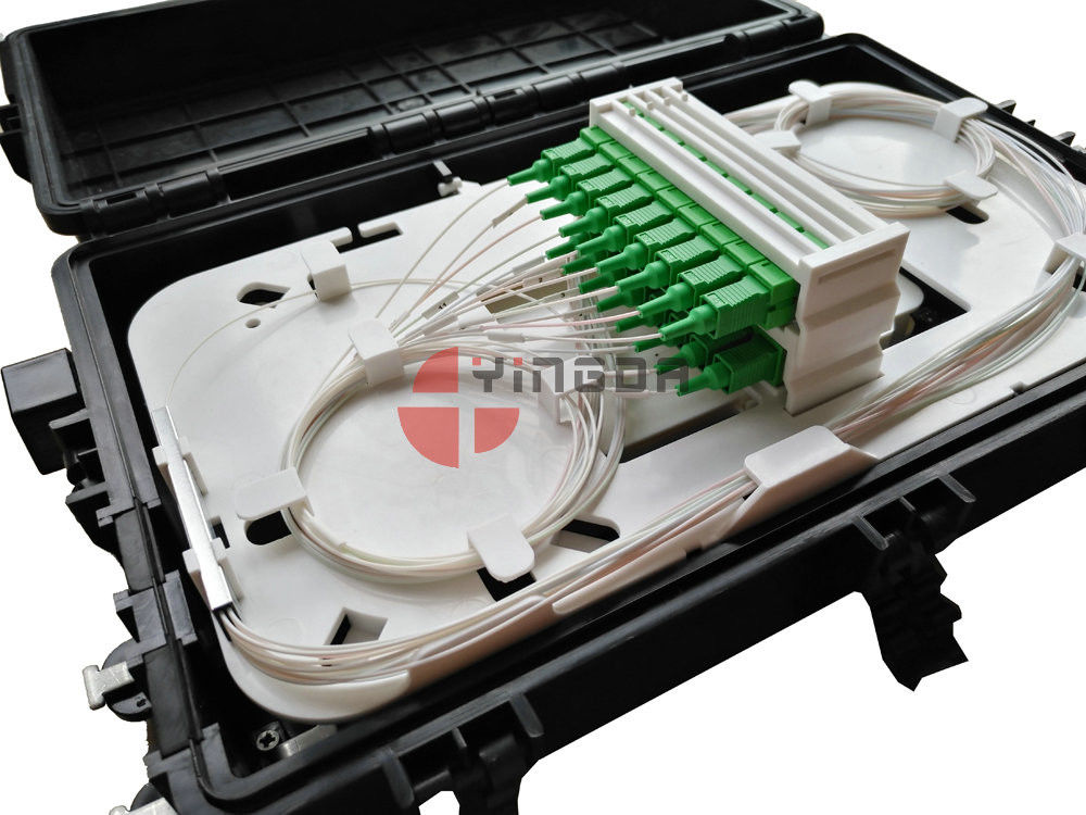 3 In 3 Out Inline Fiber Cable Joint Box 2 x 16 With SC / APC Connectors supplier