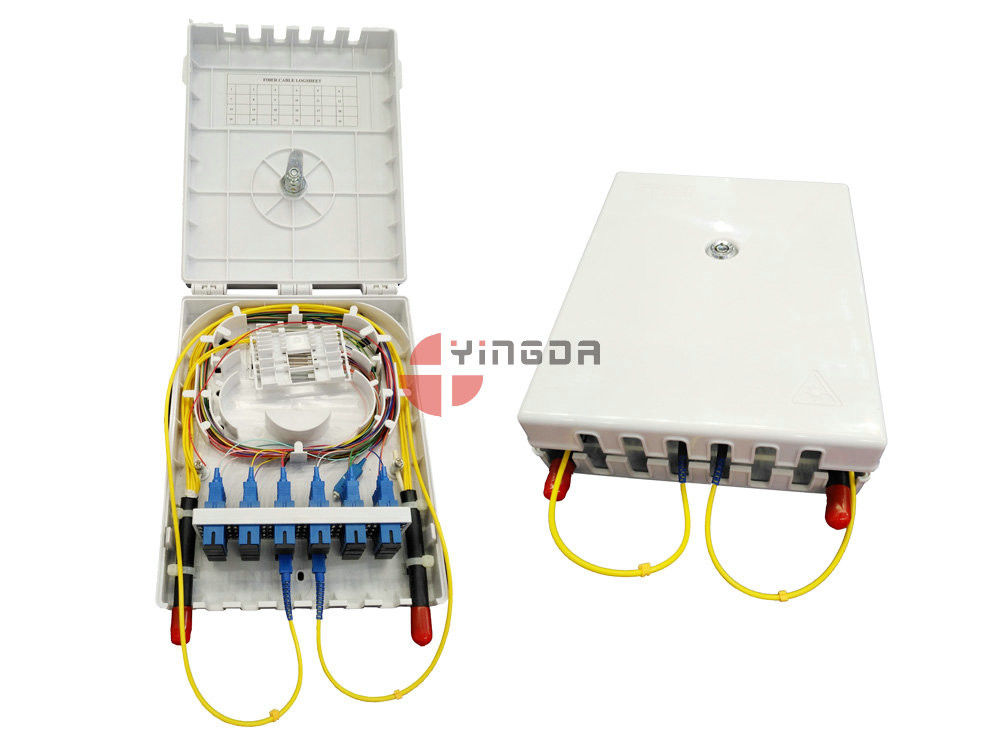 24 Cores Fiber Optic Termination Box 2 Ports At Both Side In Front supplier