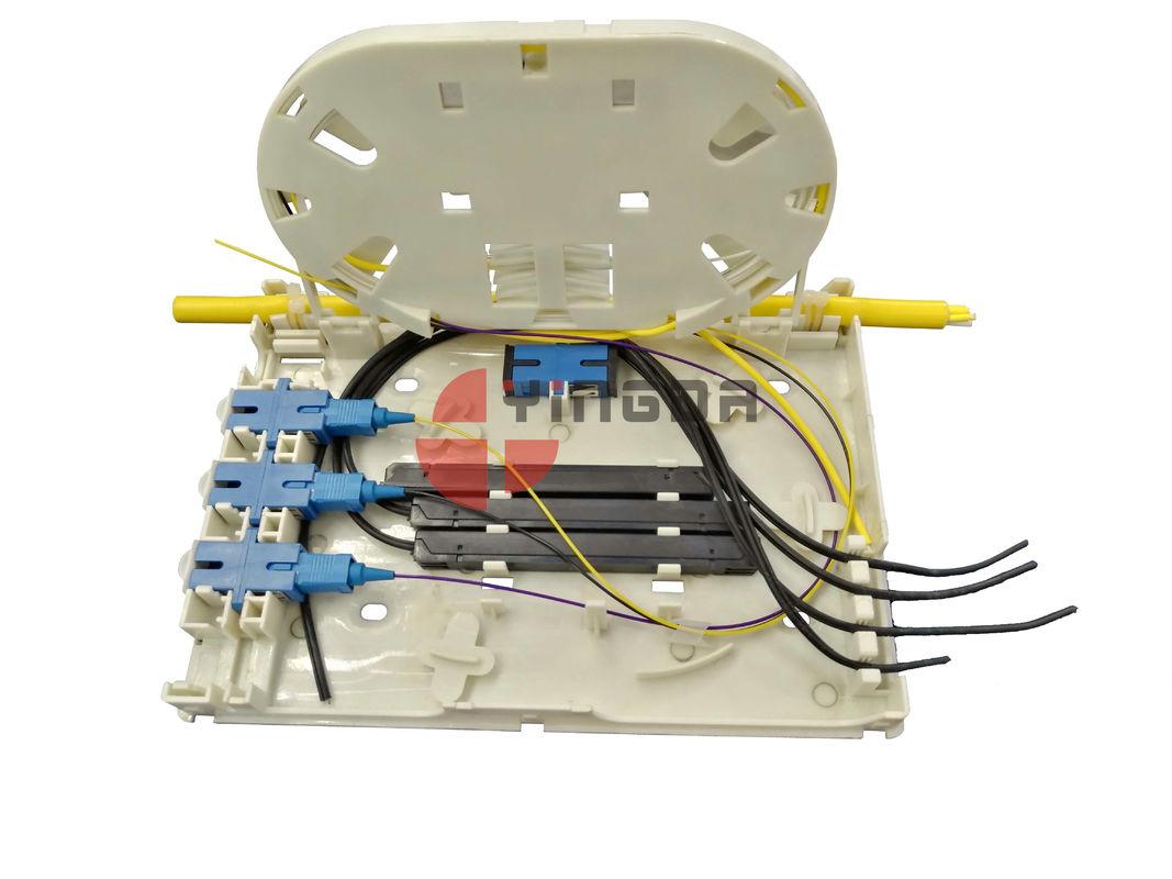 4 Port Fiber Optic Termination Box OTB FTB104E Plastic White for FTTH Drop  Cable 2*3MM