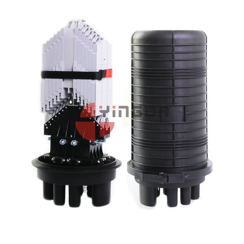 Vertical Fiber Optic Closure 288 Cores Dome 6 Round Ports For Aerial supplier