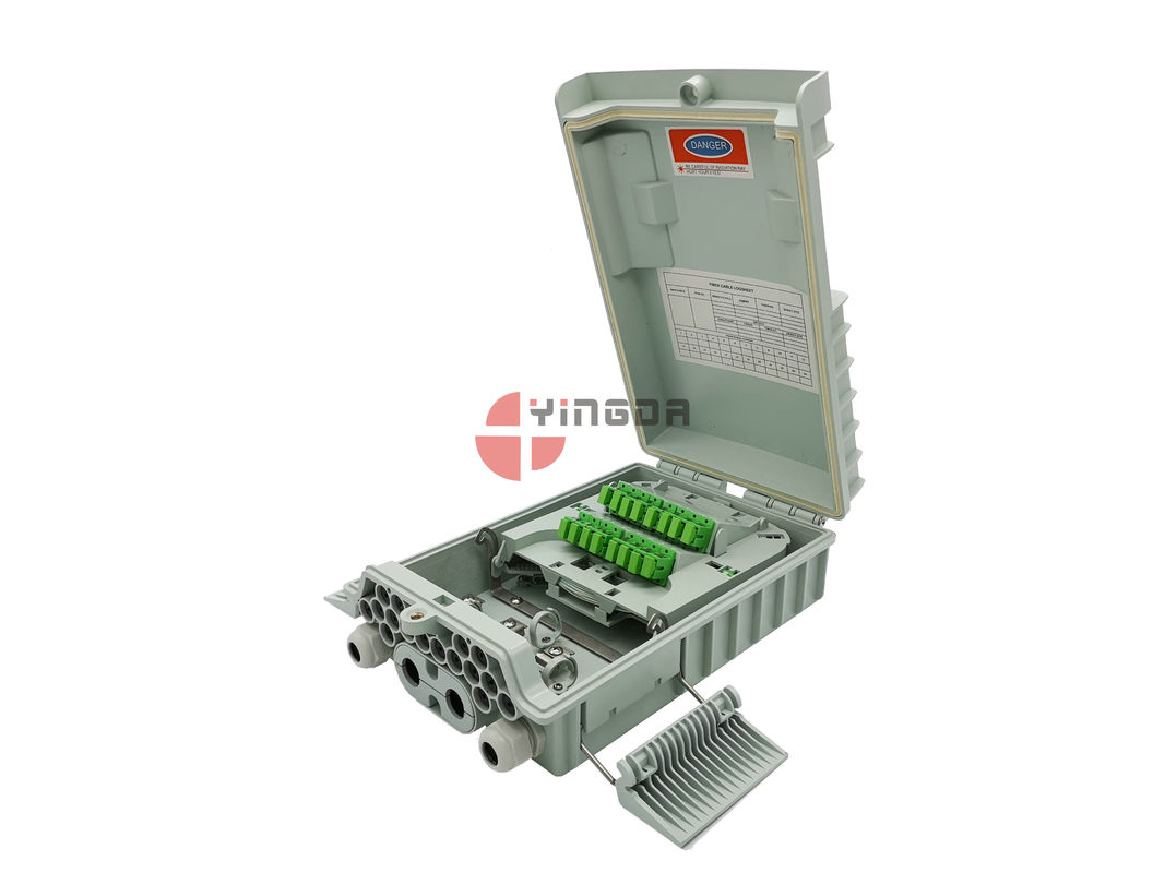 Exterior NAP BOX Fibre Optic Cable Termination Boxes 16 Ports IP65 ISO ROHS Approval supplier