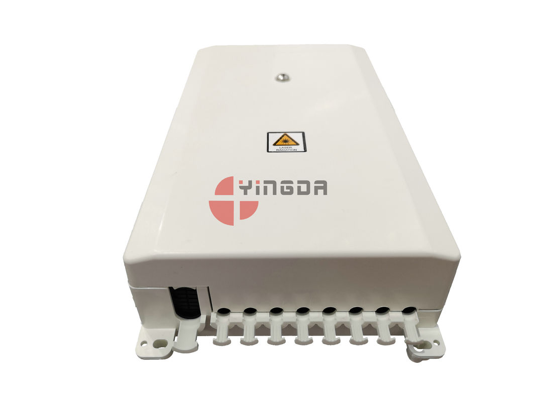 Indoor White FTTH Fiber Optic Distribubtion Box Mini Compact 8 Cores SC Adapter supplier