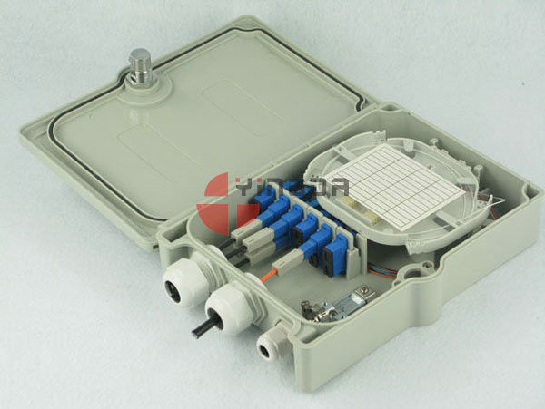 Durable Fiber Optic Splitter Box 16 Cores 3 Cable Glands SC LC CATV FTTX GPON Adapter supplier