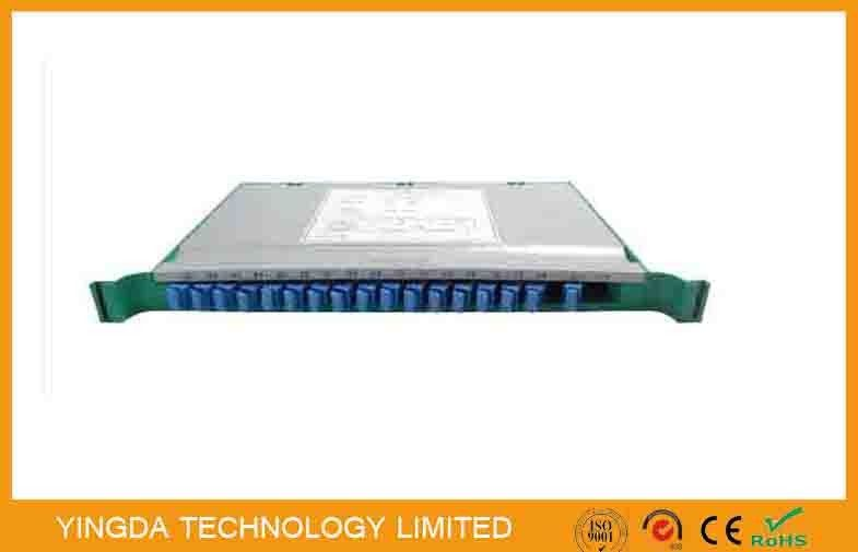 Metal Plastic 1x64 Fiber Optic PLC splitter Cassette 19 inch In Odf Rack , Splitter Splice Tray supplier