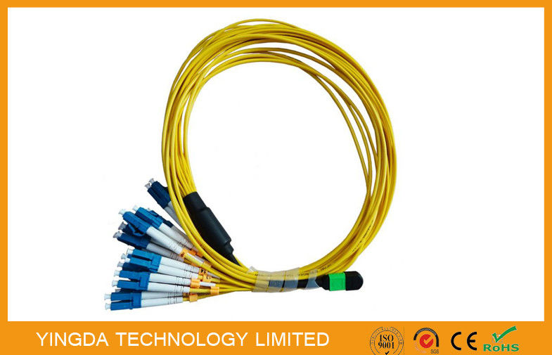Multi - Fiber Bundle MTP MPO Cable , MPO - LC Fan Out Patch Cord 2mm supplier