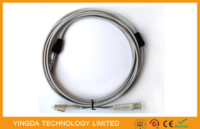 LC Jumper Multimode Armored Duplex LC Fiber Optical Patch Cord Round Anti Rodent supplier