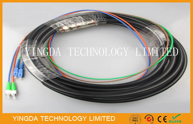 Outdoor Telecom Waterproof Pigtail Patch Cord SC - FC / APC 2 Core 4 Core  20M supplier