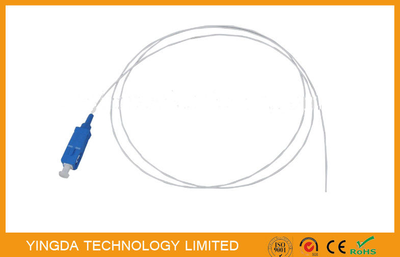 PVC 1.5Mtrs 0.9mm SC / UPC Fiber Optic Pigtail SM Loose Buffer / Jumper Cable supplier