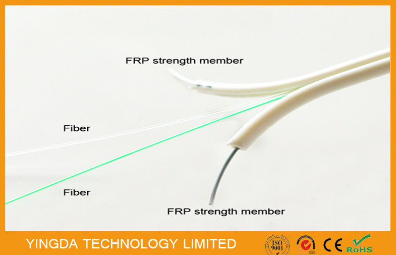 Single Mode FTTH Drop Cable , FRP Non - Metallic Strength 2 Core ...