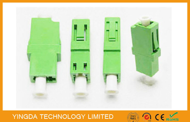 LC / APC Simplex Green Single Mode Fiber Optic Adapter 1310nm , LC Fiber Coupler supplier