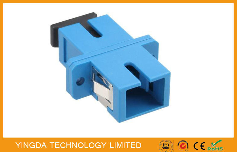 Single - mode Duplex Optic Fiber Adapter SC / UPC With Stainless Steel Clip supplier
