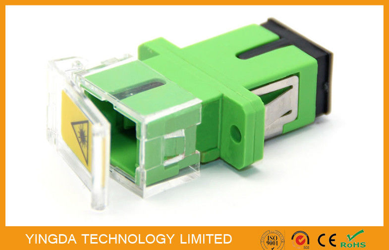 SC Fiber Optic Shutter Adapter With Transparent Plastic , Pathcord Assembly supplier