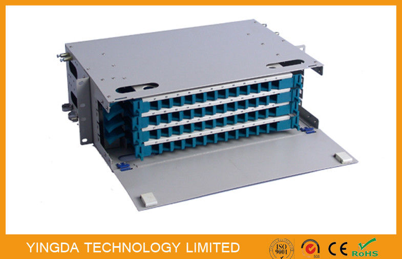 48 Cores Fiber Optic Patch Panel Cabinet Welding Tray 4 x 12F Rack Mounting supplier