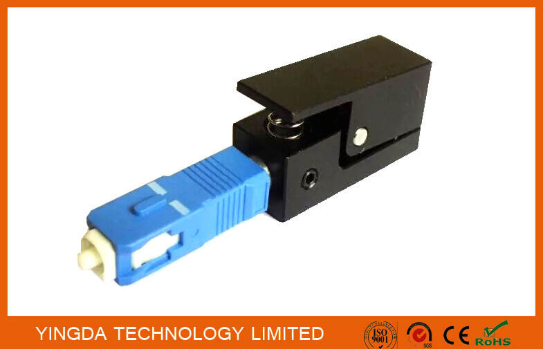 Square Fiber Optic Adapter SC SM / MM Simplex Blue Black Fiber Optic Coupler supplier