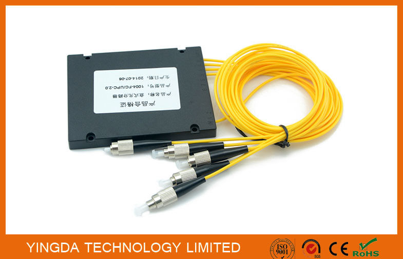 ABS Platic Box Optical Fiber Splitter , PLanar Lightwave Circuit Splitter Module FC 1.5M supplier