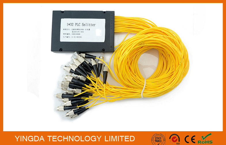 GPON Low PDL 1*32 FC PLC Fiber Optic Splitter ABS Plastic For Data Communication supplier