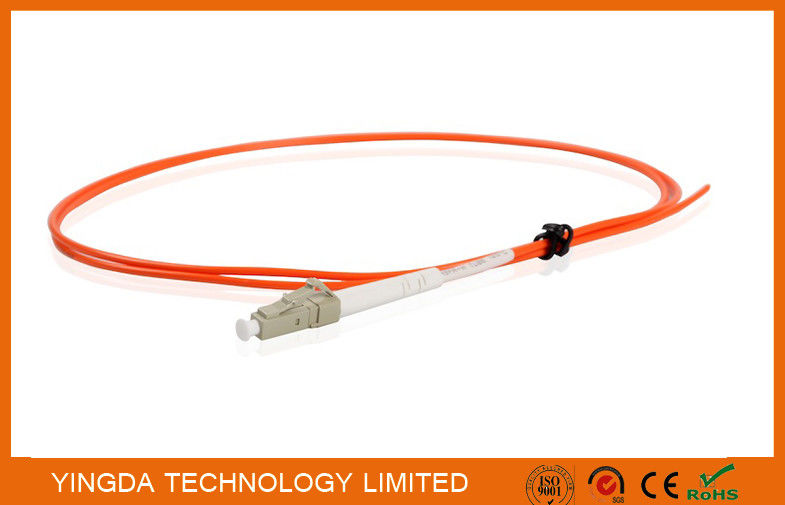 Fiber Pigtails LC Multimode Simplex 2.0mm Diameter LSZH Tight Buffer Orange supplier