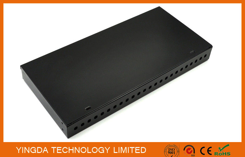 24 Port FC ST 19 Inch Rack Mount Patch Panel , 24 Fibers FC ODF Rack Patch Panel supplier