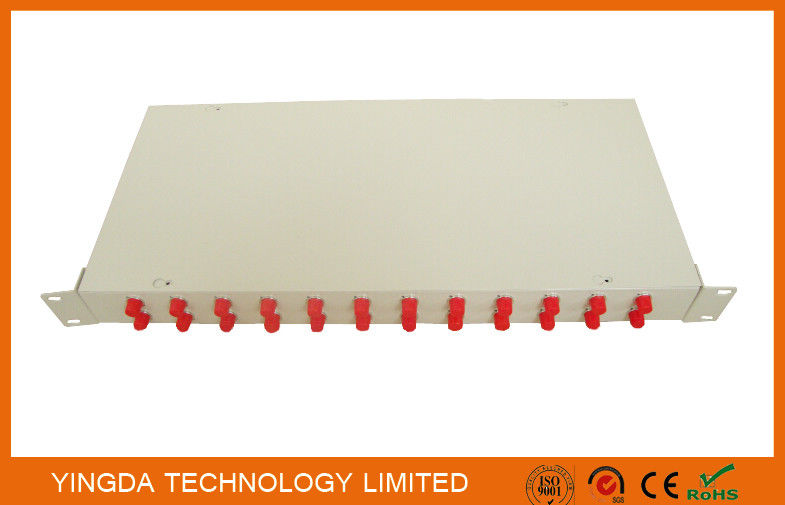 Optical Fiber Rack Mounted ODF Patch Panel 19 Inch 24 Ports Cold Rolled Steel 1.0mm supplier