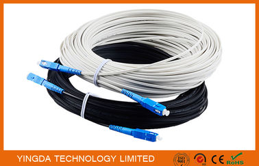 China Outdoor Fiber Optic Patch Cord FTTH Network Patch Cable 1 Core SC / UPC - SC / UPC 40M distributor