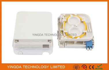 China FTTH Fiber Optic Terminal Box LC Duplex Connectors With Transparent Cover distributor