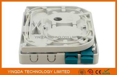 China 2 Ports Fiber Optic Termination Box SC LC Fiber Optic Adapter distributor
