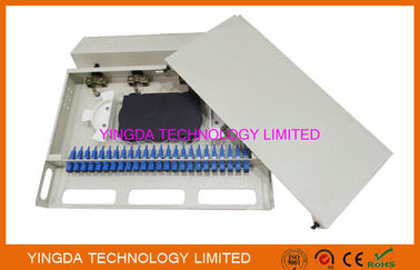"China 1U 24 Port 19"" SC SM 24 Cores Fiber Patch Panel SC Pigtail And SC Adapters distributor"