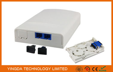 China Duplex SC/APC Adapter FTTH Socket Panel Wall Outlet Box Plastic ABS Terminal Box distributor