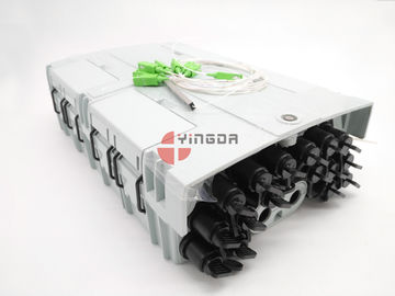 China 96 Cores 16 Ports Fiber Optic Splitter Box NAP Outdoor Box Mini SC Adapter IP68 PC With 1x16 Splitter distributor