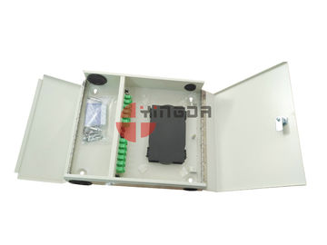 China Waterproof 4 Ports 2 Door Fiber Optic Patch Panel ODF Wall Mounted With SC/APC adapters distributor