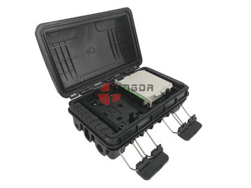 China PP + GF Fiber Cable Joint Box Waterproof 290 * 190 * 110mm 24cores Capacity distributor