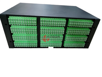China Cold Rolled Steel Fiber Patch Panel 288 Cores Slide Tray With SC Duplex Adapters distributor