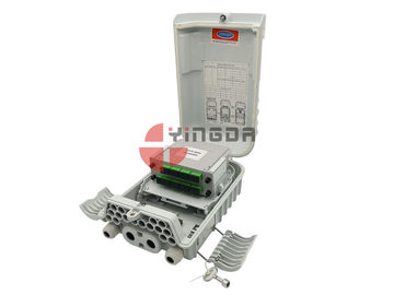 China 16 Ports Pole Mount Fiber Optic Cable Box IP66 For FTTH Nap Caja Terminal Grey distributor