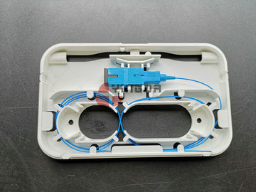 China 1 Core Indoor FTTH Fiber Optic Terminal Box Information Face Plate Wall Mounting distributor