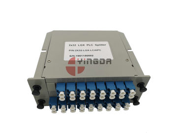 China 1x32 2x32 Lgx Plc Splitter Fiber Optic Cable Single Mode With LC SC Couplers distributor