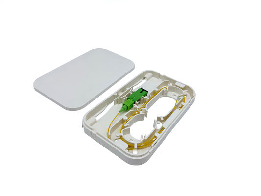 Plastic 1 Core SC/APC Fiber Optic Wall Mount Outlet Socket Panel Termination Box Rossette NAP