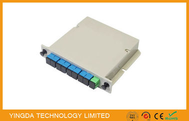 China ISO Fiber Optic PLC Splitter Cassette Loaded With SC Connector , 1 Slot LGX Optic Spltiter distributor