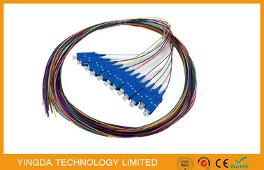 China SC / UPC SC / PC Multi Core Fiber Optic Pigtail cables 12 Core 0.9mm distributor