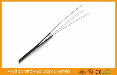 China Steel Reinforcement 2 Fiber FTTH Drop Cable G652D , Fiber to the Home GJXFH-2B6 distributor